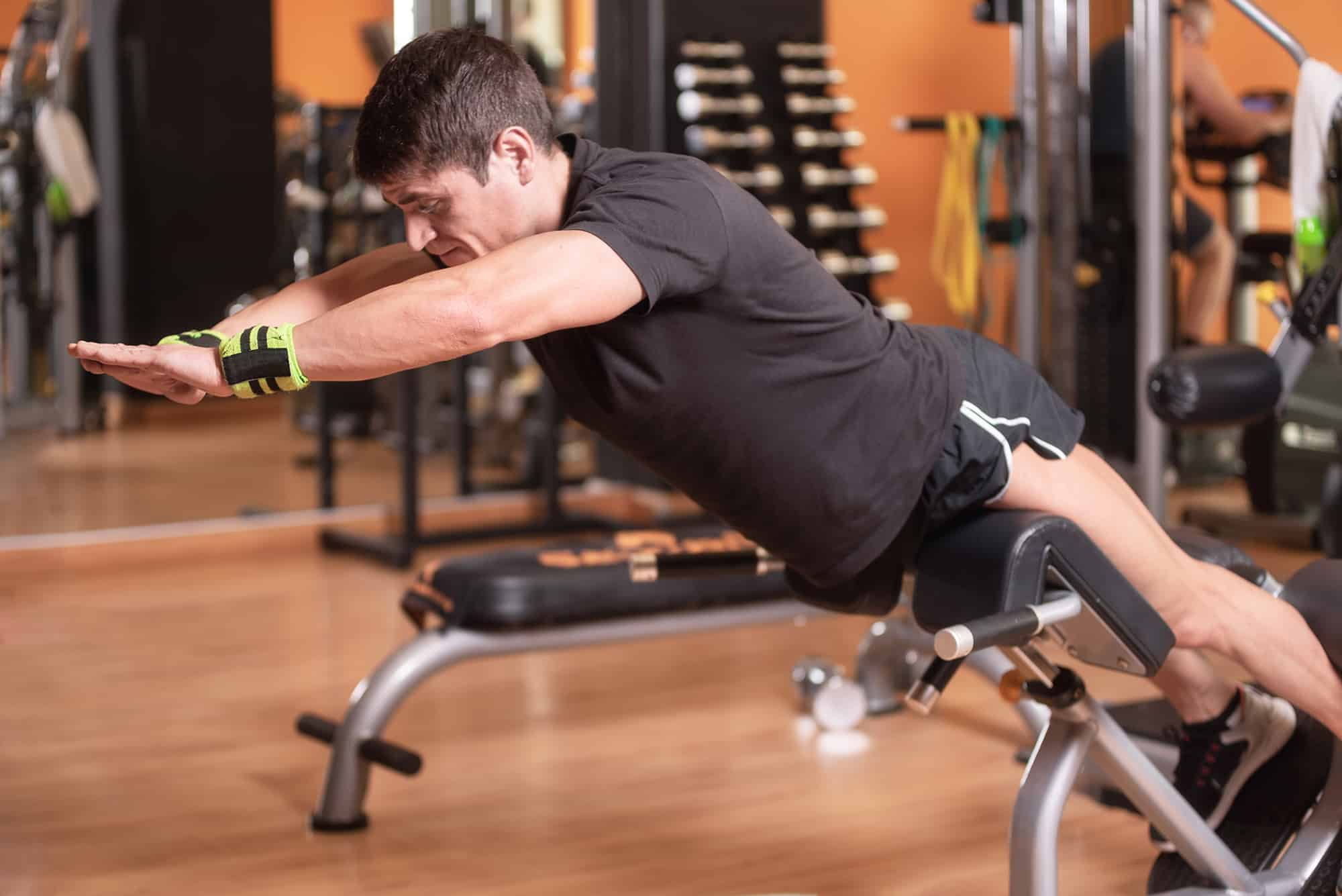 Lower back exercises for strengthening the muscles