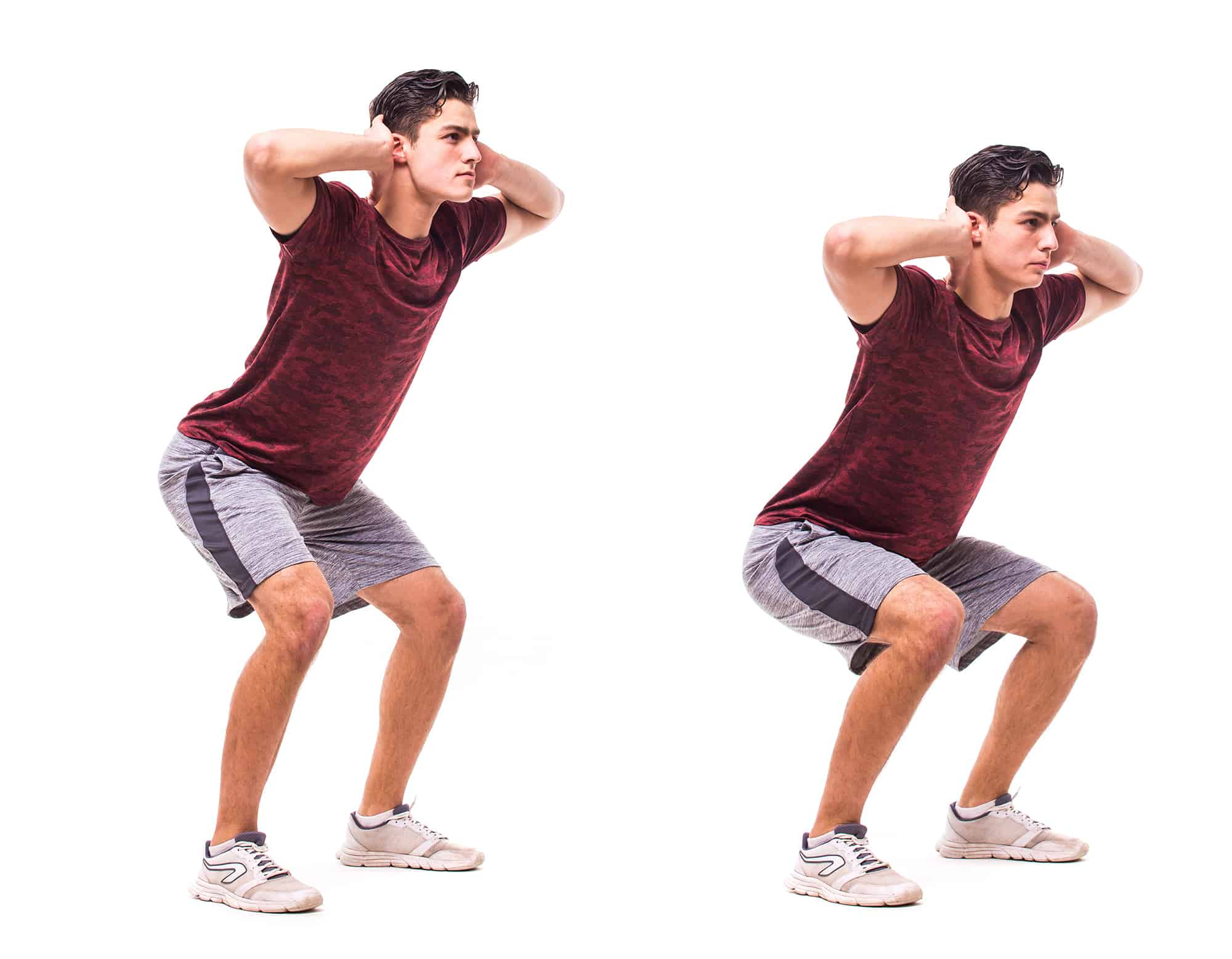 Young man doing sport exercise